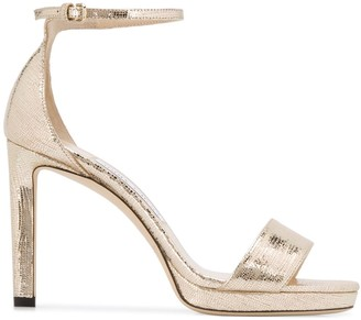 Jimmy Choo Misty 100 metallic sandals