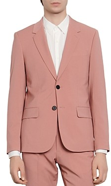 Sandro Slim-Fit Pink Suit Jacket