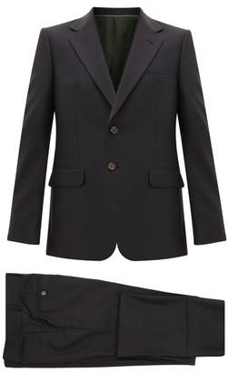 Gucci London Single-breasted Wool-blend Suit - Mens - Dark Grey