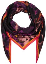 Klements Square Scarf In Biaowieza Forest Deep Mauve