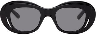 Martine Rose Black Bug-Eye Hepburn Sunglasses