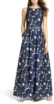 Adrianna Papell Women's Embellished Jacquard & Jersey Ballgown