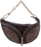 Versace Embellished Suede Bag