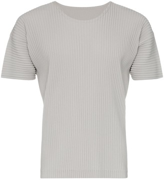 Issey Miyake Homme Plissé pleated short sleeved T-shirt