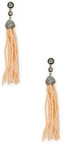 Heritage Diamond & Coral Tassel Earrings