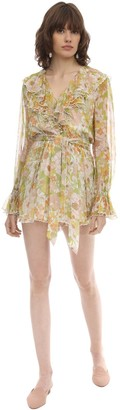 Zimmermann Printed Chiffon Mini Dress