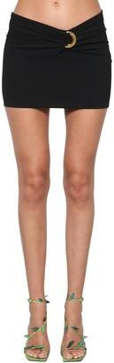 Versace Sable Viscose Mini Skirt W/Gold Detail