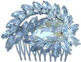 "Wedding Hair Accessories-Sindary Jewelry Sindary 2.76"" Teardrop Bridal Hair Comb Clear Rhinestone Crystal Silver Tone Wedding Headpiece HZ4993"
