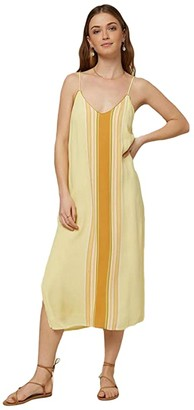 O'Neill Avana Stripe Dress (Citrus Shock) Women's Clothing