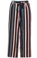 Quiz Black Stripe Culotte Trousers