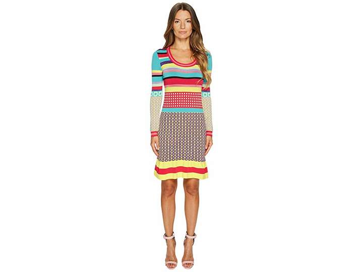 Moschino Knit Multi Pattern Dress Women's Dress