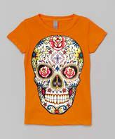 Micro Me Orange Dia de los Muertos Fitted Tee - Toddler & Girls
