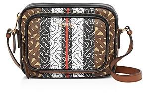 Burberry Monogram Stripe E-Canvas Camera Bag