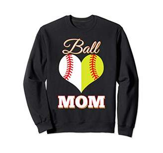 IDEA Softball Mom Ball Mom Softball Baseball Funny Gift Sweatshirt
