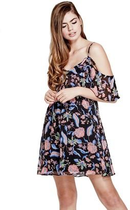 GUESS Women's Cold Shoulder Jazmin Dress