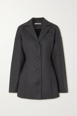 Georgia Alice Divine Metallic Wool-blend Mini Dress - Gray