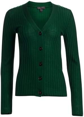Saks Fifth Avenue Ribbed Wool Cardigan