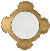The Well Appointed House Quatrefoil Wall Mirror in Antique Brass