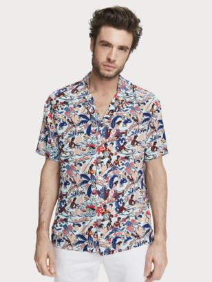 Scotch & Soda Printed Hawaii Shirt Keoni | Men