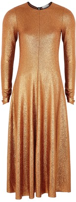 Forte Forte Copper stretch-jersey midi dress