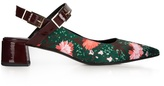 Erdem Aerina carnation-print satin pumps