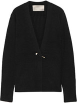 Jason Wu Embellished Ribbed-knit Cardigan - Black