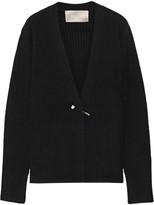 Jason Wu Embellished Ribbed-knit Cardigan - Black