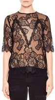Sandro Idol Lace Top