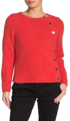 BA&SH Eyelash Fringe Side Button Sweater