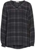 Betty Barclay V-neck check blouse