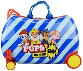 Americas Travel Merchandise Boys' Luggage - Paw Patrol Blue Stripe 'Pups on the Go' Rolling Travel Case