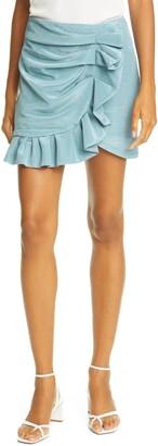 Jonathan Simkhai Azalea Ruffle Miniskirt