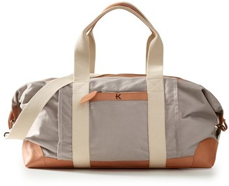 Mark And Graham Canvas and Leather Weekend Bag