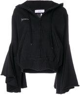 Facetasm bell sleeves zipped hoodie