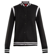 Givenchy Logo-embroidered wool-blend bomber jacket