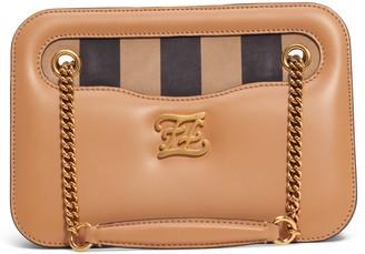 Fendi Karligraphy King Leather Shoulder Bag
