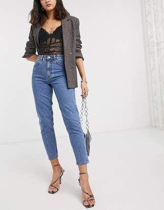 Object mom jeans in mid blue
