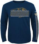 Reebok Toddler Boys' Long-Sleeve Nashville Predators Line Up T-Shirt