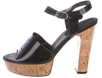 Chanel CC Platform Sandals