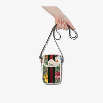 Gucci multicoloured Ophidia GG supreme mini phone bag