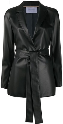 Harris Wharf London Belted Notch Lapel Coat