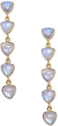 Dina Mackney Rainbow Moonstone Linear Earrings