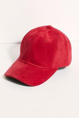 Free People Carter Vegan Suede Baseball Hat
