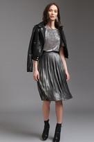 Dynamite Metallic Pleated Midi Skirt