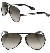 Givenchy 65MM Interchangeable Aviator Sunglasses