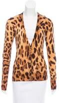 Dolce & Gabbana Leopard Button-Up Cardigan