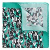 Hugo Boss Pocket Square 33 x 33 Silk Patterned Pocket Square One Size Open Green