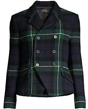Polo Ralph Lauren Women's Kirra Tartan Wool-Blend Blazer