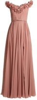 Elie Saab Ruffle-trimmed silk-georgette gown