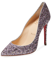 Christian Louboutin Pigalle Follies Glitter Pointed-Toe Pump